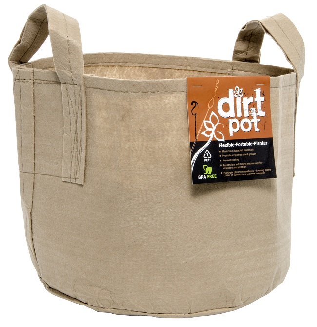 Dirt Pot Tan 65 Gal w/Handle