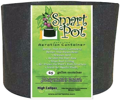 Smart Pot Black 45 Gallon