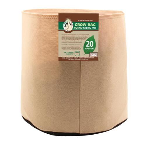 Gro Pro 20 Gallon Round Fabric Pot-Tan