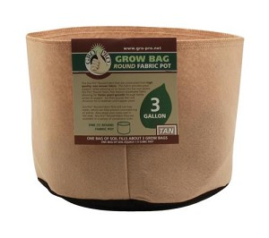 Gro Pro 3 Gallon Round Fabric Pot-Tan