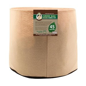 Gro Pro 45 Gallon Round Fabric Pot-Tan